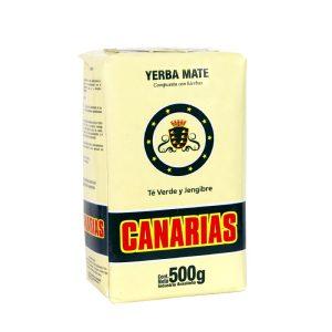 Yerba Mate Canarias Te Verde Jengibre (Green Tea & Ginger) 500g